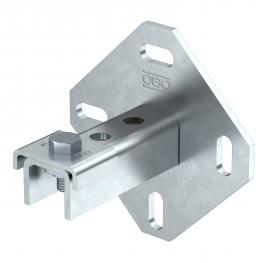 Wall, floor and ceiling bracket with 3 holes FT