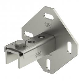 Wall, floor and ceiling bracket with 3 holes A4
