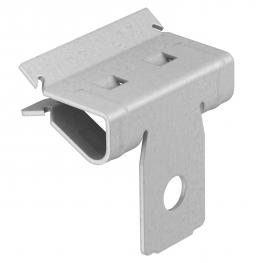 Beam clamp, with fastening hole