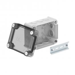 Junction box T100, with plug-in seal, transparent elevated cover