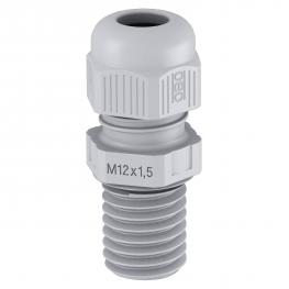 Cap nut cable gland, metric thread, long, silver grey