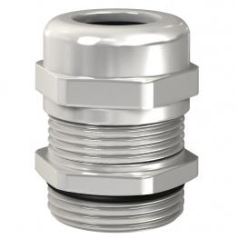 Cap nut cable gland, EMC, metric thread, nickel-plated