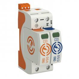 Combination arrestor V50, 1-pole + NPE with FS 385 V