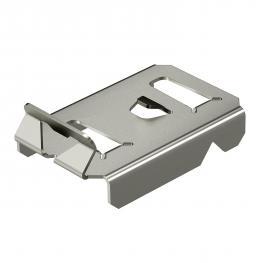 Hold-down clamp for barrier stripfastening