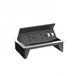 Deskbox, foldable with BS sockets, 3 m cable