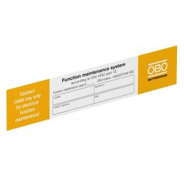 Identification plate for function maintenance