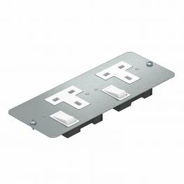 Cover plate APMT5 with two single sockets