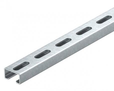MS4022 mounting rail, heavy-duty, slot 18 mm, FT, perforated