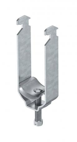 Clamp clip, double, metal pressure trough