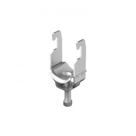 Clamp clip, single, A4 metal pressure trough