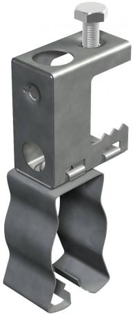 Screw-in beam clamp, for pipes and cables