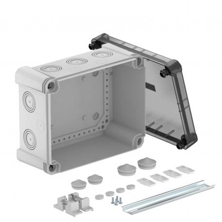 Junction box X 16 with hat profile rail