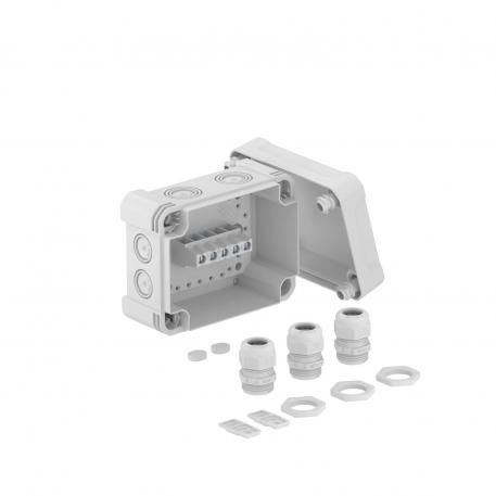 Junction box X 06 with cable glands and terminal strip