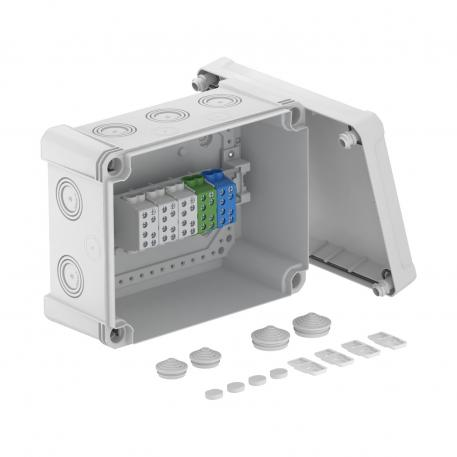 X 16 junction box with main terminal block