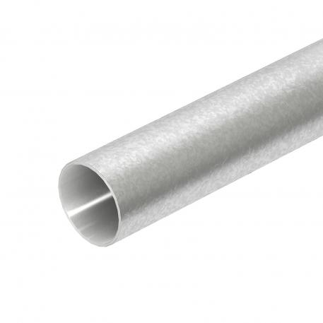 Hot-dip galvanised steel pipe, without thread