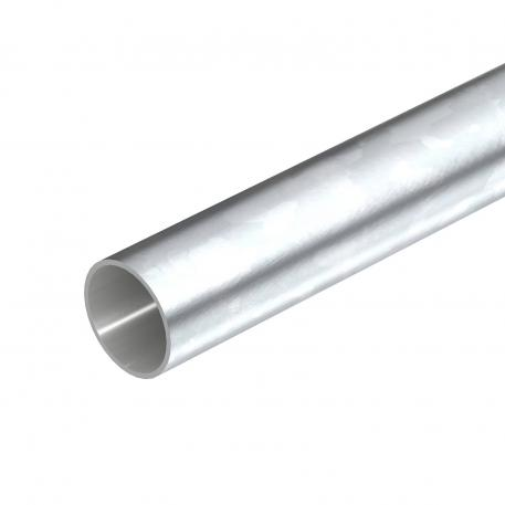 Electrogalvanised steel pipe, without thread