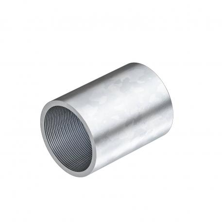 Electrogalvanised steel sleeve, with thread