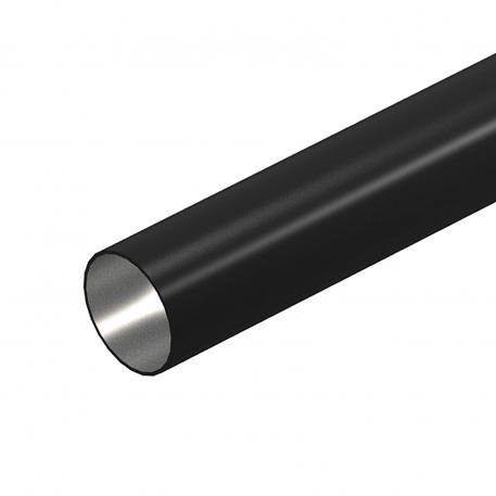 Black powder-coated steel pipe, without thread