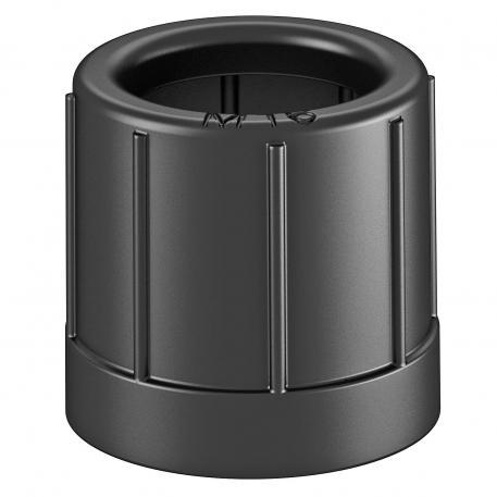 Pipe end cap, metric, black