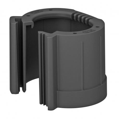 Pipe end cap, splittable, metric, black