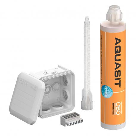 Aquasit cold casting compound with T40 junction box