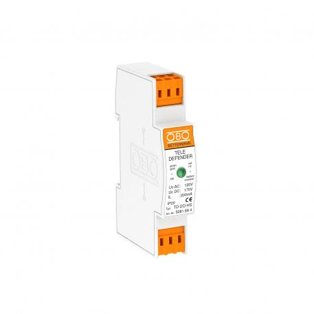 Combination protection device for ISDN and DSL systems