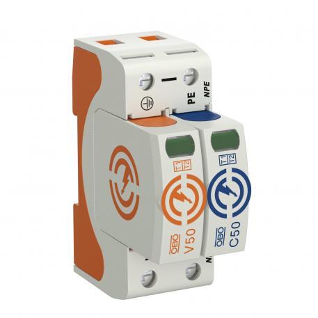 Combination arrestor V50, 1-pole + NPE 280 V
