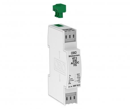 MCR protection for 2-pin for power supply with leak current-free remote signalling, 230 V AC/DC