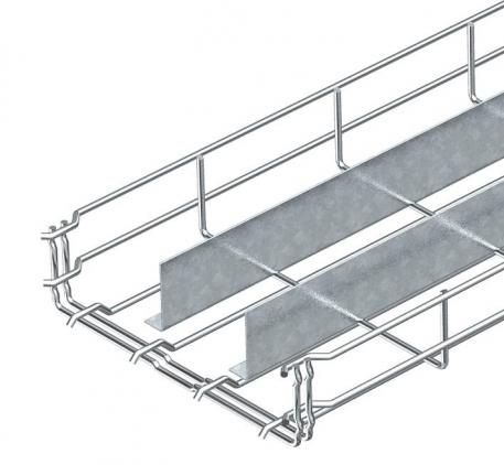 Mesh cable tray GR-Magic® 55 with  2 barrier strip