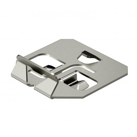 Hold-down clamp for barrier strip fastening A2