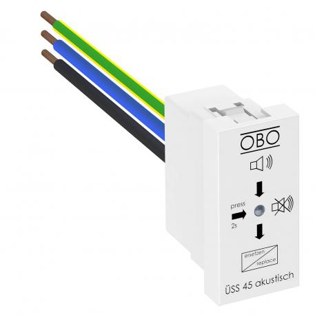 Surge protection module for Modul 45 with audible signalling