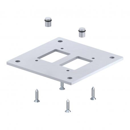 Floor plate for industrial pole