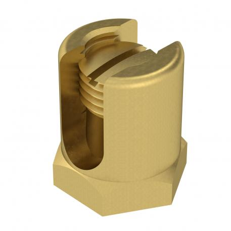 Earthing terminal with fastening thread