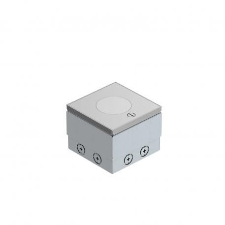 UDHOME2 floor socket, with tube body, double VDE, stainless steel