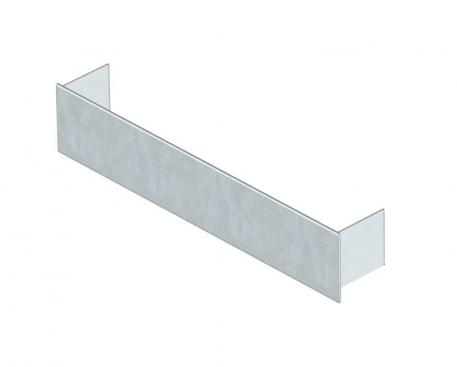 Duct end closure piece, height 38 mm