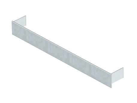 Duct end closure piece, height 28 mm