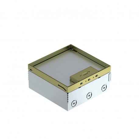 UDHOME4 floor box, freely equippable, brass